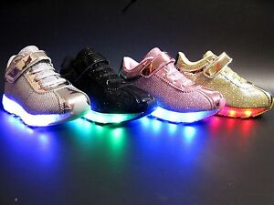 New Baby Toddler Girls And Kids Youth Light Up Shoes