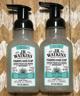 2 J R Watkins Foaming Hand Soap Agave Water Plant Based No