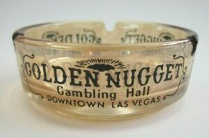 Ashtray Golden Glass Maxim Las Vegas