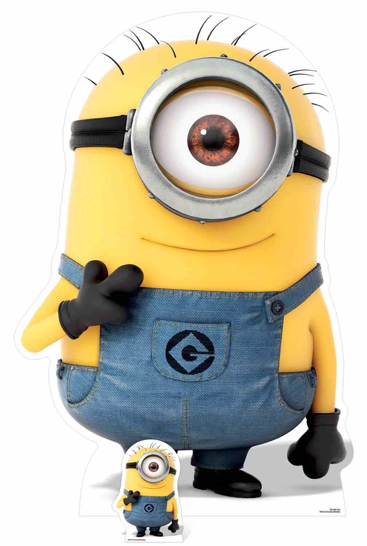 Carl Minion von Despicable Me 3 mit Mini Pappfigur   Aufstehen Minions