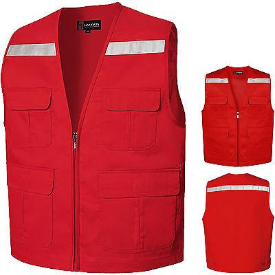 Hi Viz Vest High Vis Safety Waistcoat Jacket Reflective Visibility BeltVests UK