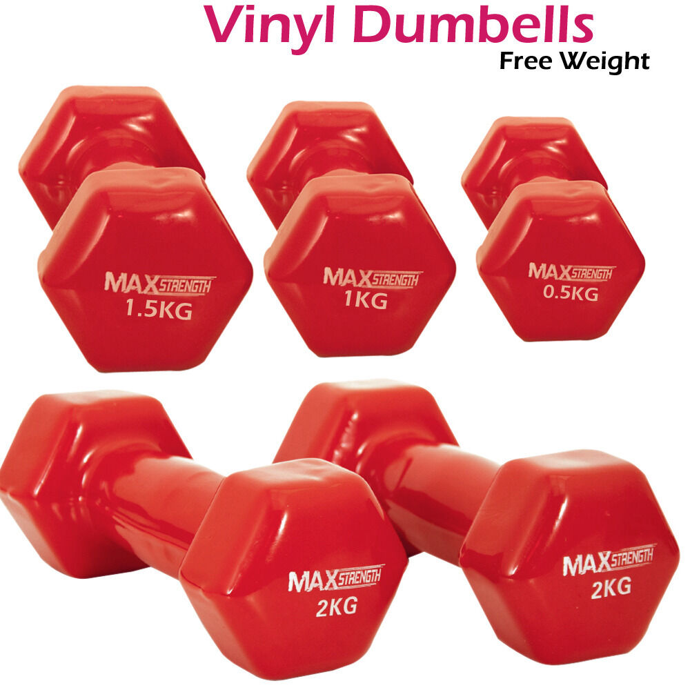 Vinyl Coated Dumbells Set Home Fitness Strength Training Workout Free  Weights  quality guaranteed