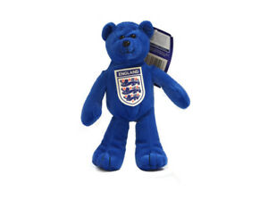 Angleterre Mini Beanie Blue Bear Football Cadeau Fan 3 Badge Lions Blancs Offici