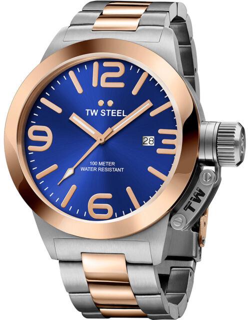 Tw Stahl CB141 Herren Zweifarbig 45MM Canteen Uhr - 2 Jahre Garantie
