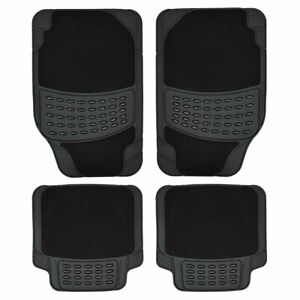 2002-2005 UNIVERSAL Car Floor Mats Black /& BLACK MERCEDES VANEO