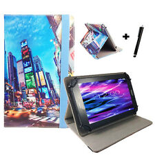 10.1 zoll Motiv Tablet Tasche Hülle Case Etui - Fusion5 104 GPS - Time Square