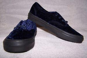2683ab2e5e401 VANS Authentic (Velvet) Women's Skate Shoes Navy/Black Size 10 NWOB ...