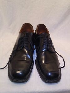 reiss-mens-black-leather-lace-up-shoes-uk-42-ref-ba07