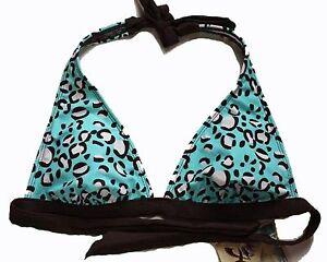 Hobie-NEW-Blue-Women-039-s-Juniors-Size-XS-0-2-Swimsuit-Bikini-Halter-Top-34-2570