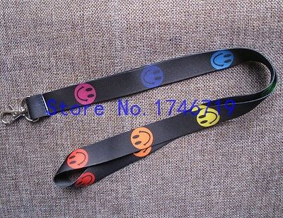Brand New Color Smile Face Lanyard Keychain Document Holder