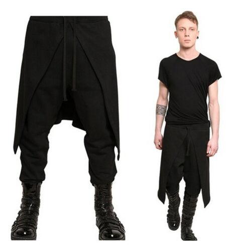 Korean Mens Harem Long Pants Loose Dance Smart Skinhy Punk Gothic Chic Trouser