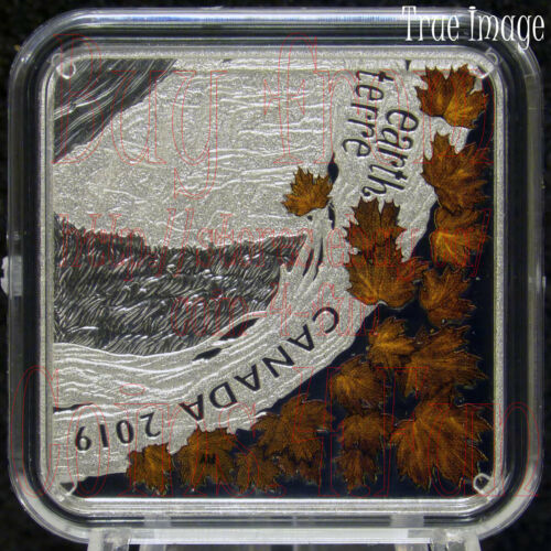 4X$3 Pure Silver Square-Shaped Coin Fire Air Earth Water The Elements 2019