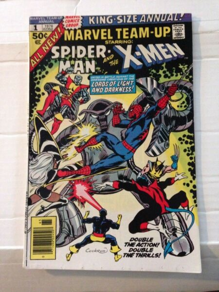 #Marvel Team-Up Annual #1 Spider-Man and The X-Men Wolverine 1976 early app