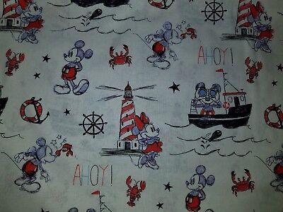 Lined Valance 42x15 Mickey Mouse Minnie Cartoon Disney Lighthouse Nautical Boat Ebay