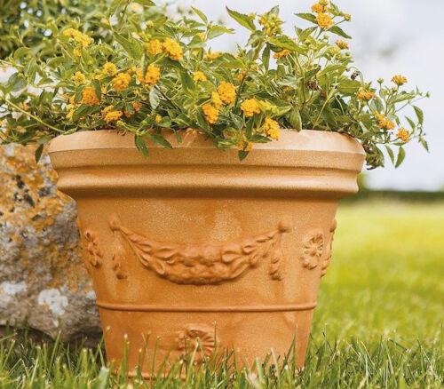 Pflanzkübel Blumentopf Runder mit Dekor aus Kunststoff Garten Ø55//65//75//90 cm