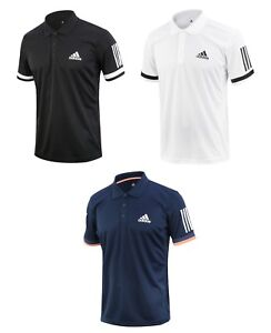 Details about Adidas Club 3 Stripes Polo Tee (CD7469) Running Climacool T Shirt Top