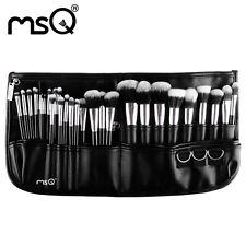 MSQ Professional 29PCs Makeup Brush Set Cosmetic Tool Synthetic Belt Purse Silve