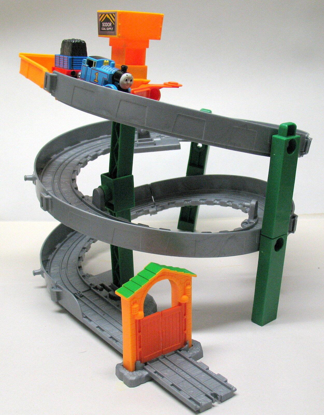 Take Take Take N Play Thomas, Sodor Coal Supply with Spiral Railway, Mattel 2012, EUC 6f5bf3