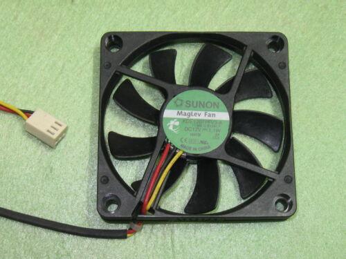 SUNON KDE1207PFV3-A 7010 70mm x 70mm x 10mm Cooler Cooling Fan 12V 1.1W 3Pin B93
