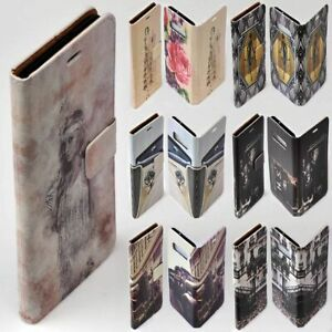 For Apple iPhone Series 1930s Lifestyle Theme Wallet Mobile Phone Case Cover