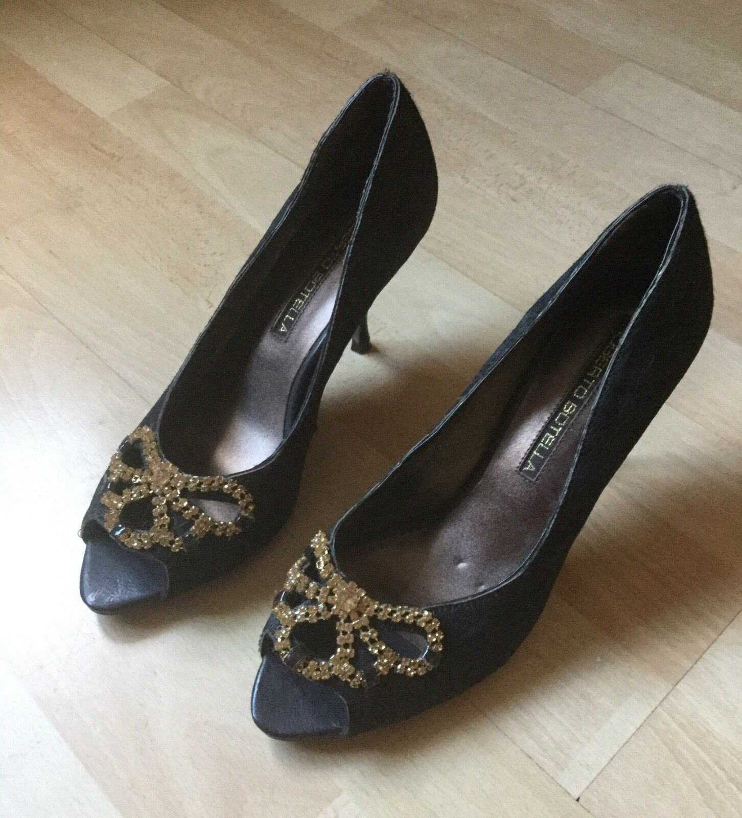 Designer Schuhes By By By Roberto Botella Größe UK 6 Euro 39 Braun Ponyskin Brand New d37925