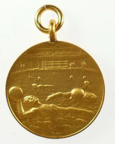 Gilt-bronze 26mm WATER POLO Sports By John Pinches /& Co