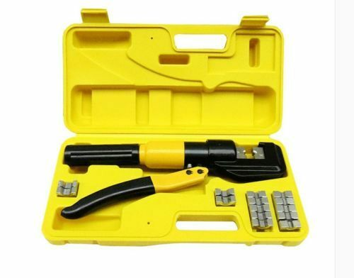 Quick Hydraulic Pressure Pliers Wire Cable Lug Terminal Crimper Crimping Tool b