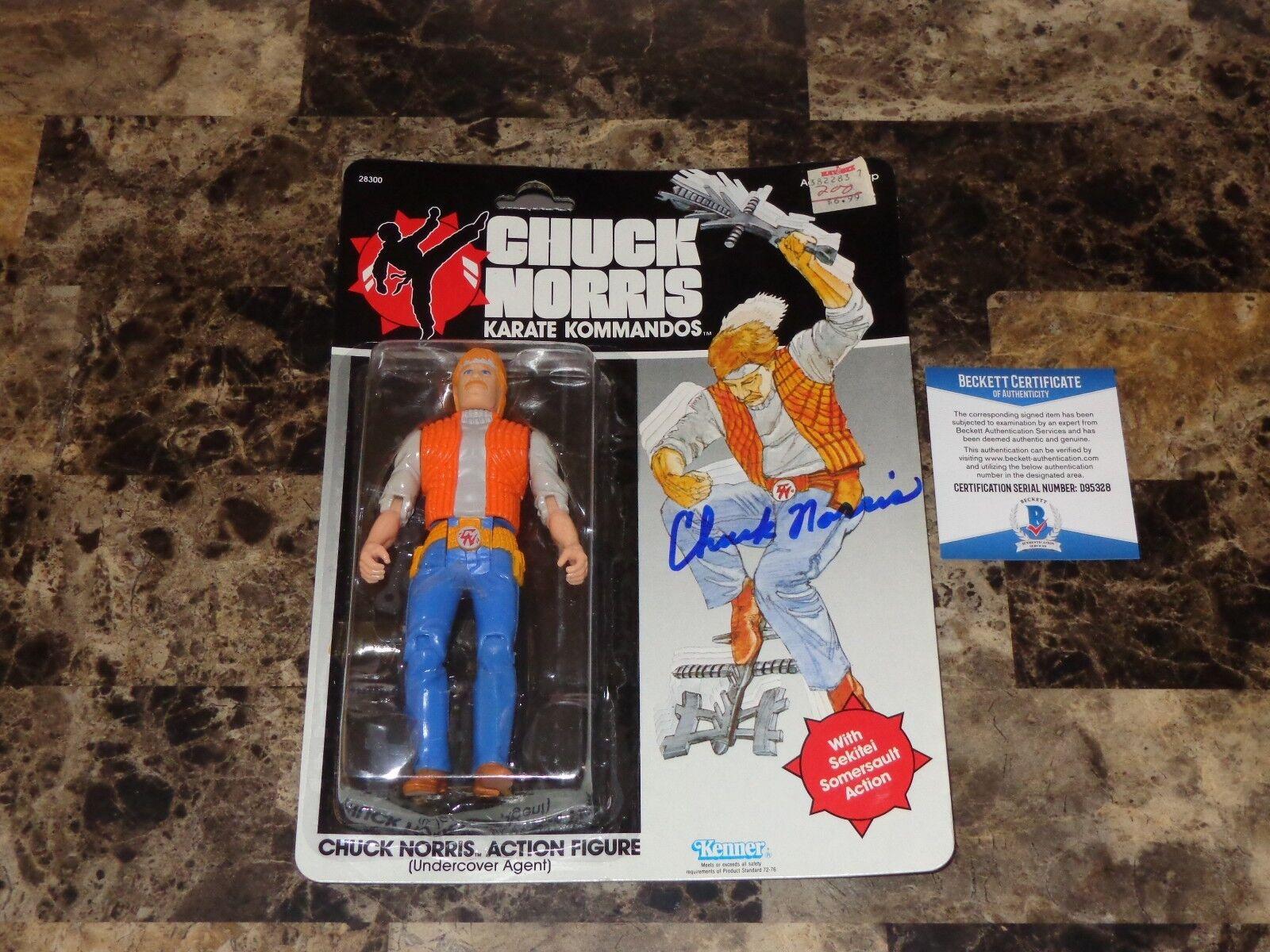 Chuck Norris Rareza Firmado Autografiado Kenner Estatua Figura De Acción De Juguete 2018  certificado De Autenticidad