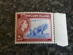 PITCAIRN-ISLANDS-POSTAGE-STAMP-SG-28A-2-6-BLUE-amp-DEEP-LAKE-UMM-MARGINAL