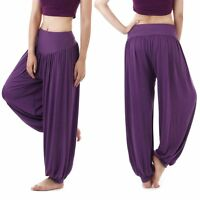 Soft Harem Yoga Pant Belly Dance Club Aladdin Trouser Student Comfort Pantaloons