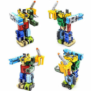 Educational Digital Magic Number Transform Robot Toy Assembling Puzzle Figure us