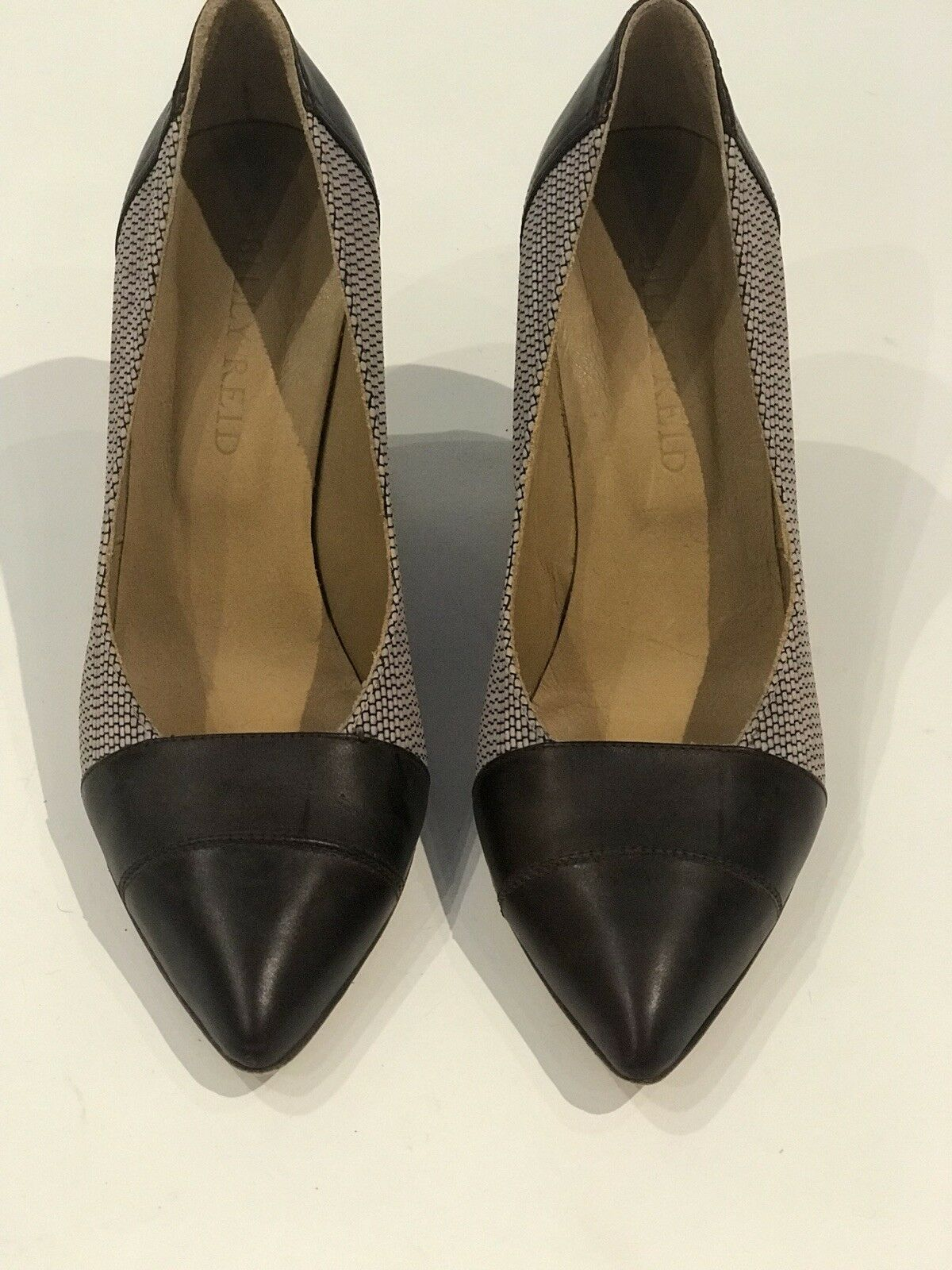 Billy Reid Reid Reid Leather & Fabric Heels 877730