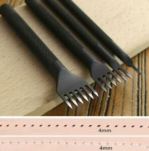 Leather-Craft-Tools-Hole-Chisel-Graving-Stitching-Punch-Tool-Set-4mm-3mm-Steel