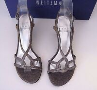 Stuart Weitzman Bridal & Evening Collection Reversal Pyrite Nocturn Heels 4 B