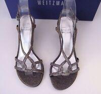 Stuart Weitzman Bridal & Evening Collection Reversal Pyrite Nocturn Heels 4 B