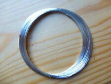 SILVER PLATED WIRE FOR VIOLIN/CELLO BOWS, CRAFTS OR JEWELRY, 0.2 GAUGE!