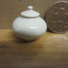 Dolls House  Vase with Lid  Crackled Finish  FR019   Signed Collector Piece