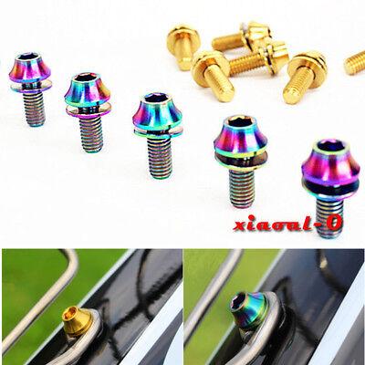 4*Titanium Ti Water Bottle Cage M5x12mm Gold Bolt Button Head Allen Key Screw