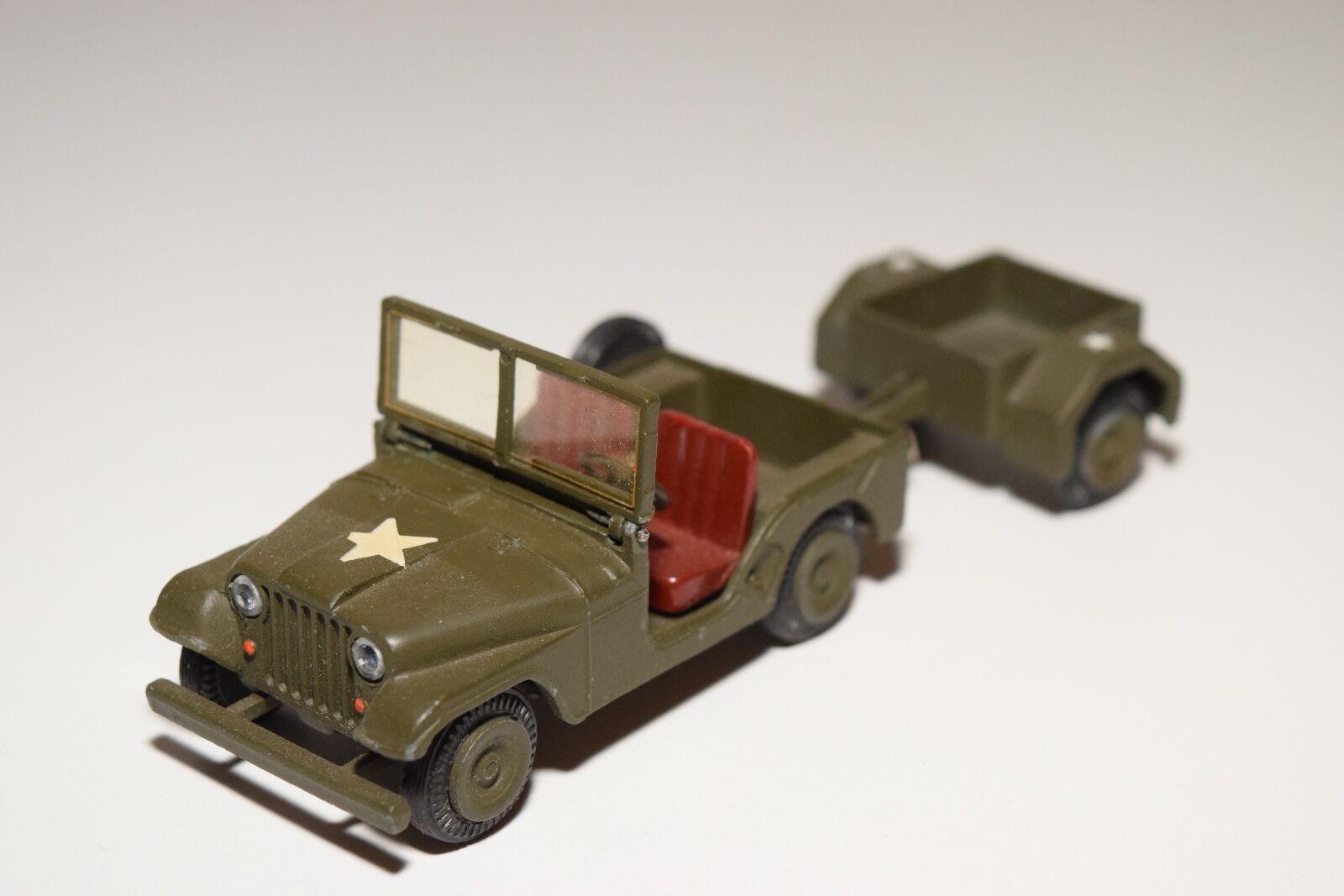 ...techno dänemark 814 uns amry jeep mit anhänger fast neuwertigen army Grün