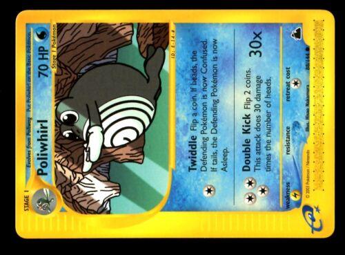 CARTE N°  88//144 POLIWHIRL POKEMON SKYRIDGE ENGLISH CARD