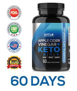Keto BHB + Apfelessig, Gewichtsverlust + Fat Burner Diät Pille Nahrungsergänzungsmittel Kapsel