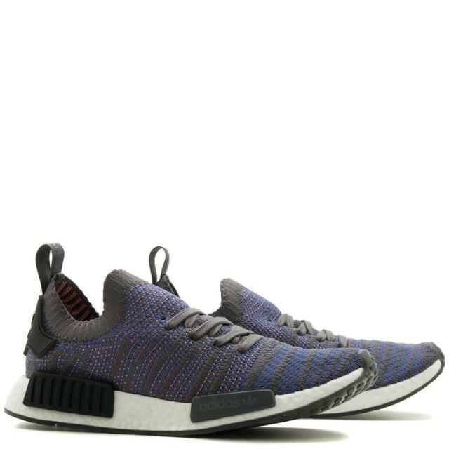 reputable site e94ef 0b1fe NIB ADIDAS MEN'S SHOES NMD R1 STLT PRIMEKNIT BLUE BLACK CORAL ALL SIZES  CQ2388