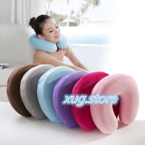 New Cute Memory Foam U Shape Travel Pillow Neck Support Head Rest Seat Cushion