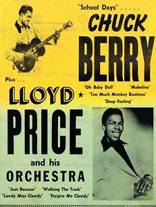 MUSIC-CONCERT-ADVERT-CHUCK-BERRY-LLOYD-PRICE-USA-FINE-ART-PRINT-POSTER-BB6757B
