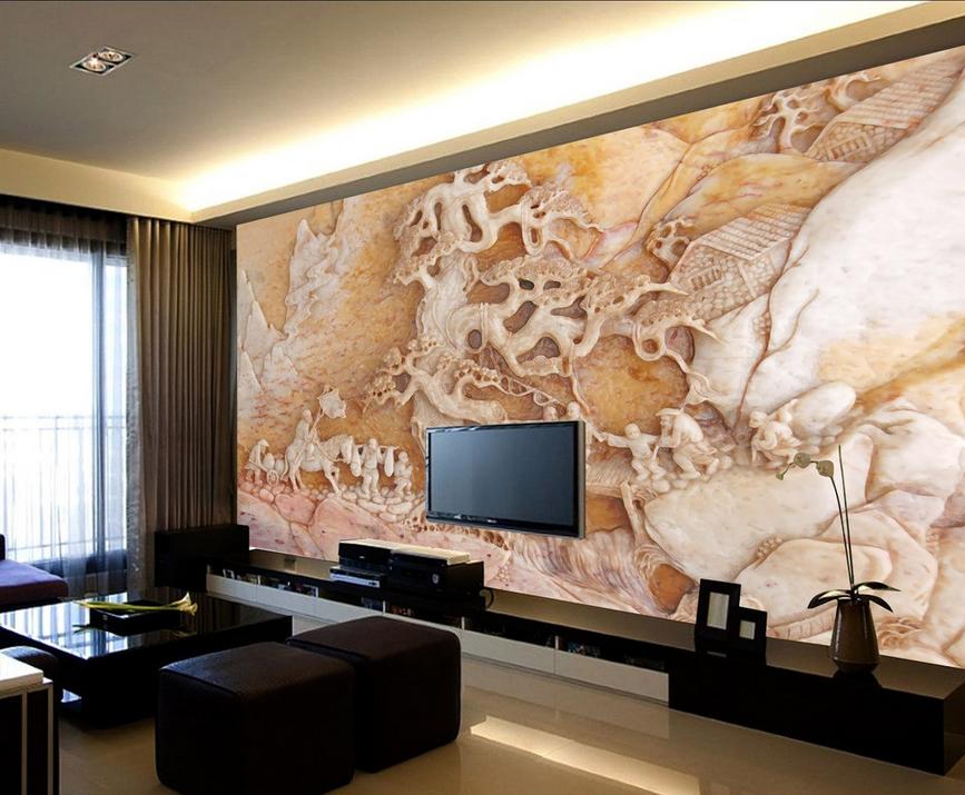 3D Jade Baumschnitzen 6 Tapete Tapeten Mauer Foto Familie Tapete Wandgemälde DE
