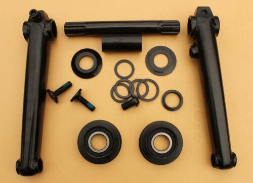BMX 3pc Crmo Crank set 19mm cromo axle MID sealed bearings,170mm hollow cranks