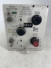 Vintage Tektronix Type B Plug In Unit For Parts Or Repair