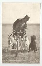 1907 Man Bicycle Duck Hunter Poodle Hunting Dog Postcard