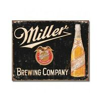 Miller Vintage Tin Sign Retro Beer Wall Art Home Man Cave Bar Decor Free Shiping