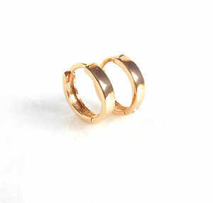 Image Is Loading Tiny Small Thin Huggie Hoop Earrings Genuine 18k